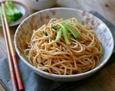 Sesame Noodles - What a great idea for a simple dinner, or a party dish!