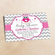 Owl Baby Shower Invitation Girl Baby Shower от LittlePartyPaper