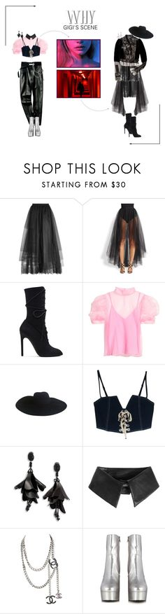 """ARIA (아리아) 'Why' Gigi's Scene"" by ariaofficial ❤ liked on Polyvore featuring Elie Saab, ML Monique Lhuillier, adidas Originals, Yves Saint Laurent, Oscar de la Renta, Karl Lagerfeld and whyera"