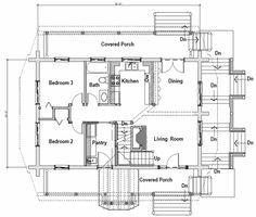 Log Style House Plan - 3 Beds 2 Baths 2296 Sq/Ft Plan #451-13 Floor Plan - Main Floor Plan - Houseplans.com