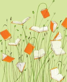 a book is like a garden, they say...but a garden of books? amazing