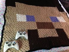 Mention ANGLSWNGS....Steve Crochet Blanket by GeekyCraftsNMore on Etsy, $55.00