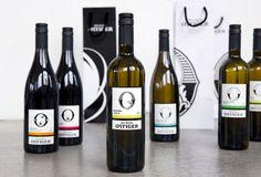 "Weinbau Ottiger Vineyards | Identity & packaging by Rosenstar, via The Dieline. ""O"", baby!"