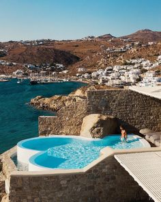 """Cavo Tagoo Mykonos on Instagram: """"📷 by @meirr via @bestvacations"""" Cavo Tagoo Mykonos, Cool Pools, Pool Designs, All Over The World, Swimming Pools, Fangirl, Spa, Architecture, Water"""
