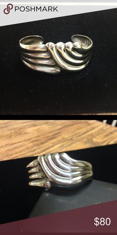 PRICE DROP!🎉Sterling Silver Cuff Sterling silver cuff made in Mexico, stamped 925, measures 6 1/4 inch Jewelry Bracelets