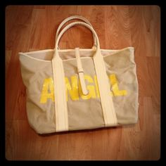 Cute Victoria Secret Bag Beige/Yellow/Great Shape/Clean Victoria's Secret Bags Totes