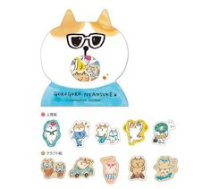 30 Kawaii Shiba inu Japanese Flake Stickers Sack Cute Dog Sticker Pack Shibanban