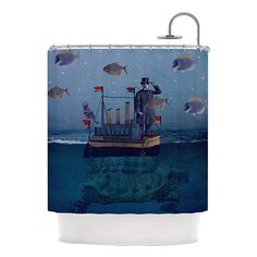 "Have to have it. Kess Inhouse Suzanne Carter ""The Voyage"" Shower Curtain - $96.99 @hayneedle.com"