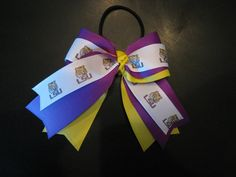 LSU Logo Hair Bow by NotAnotherHairBow on Etsy, $8.00