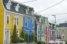 Photo about Colorful row houses in St. John s, Newfoundland. Image of blue, newfoundland, houses - 15333015 Oh The Places You'll Go, Places Ive Been, Places To Visit, Go Dog Go, Usa Holidays, Architecture Images, Newfoundland, Adventure Is Out There, House Colors