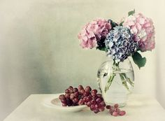 Still life with hydrangea Art Print by Ellen Van Deelen | Society6