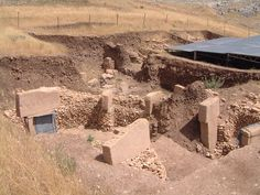 Göbekli Tepe is an archaeological site at the top of a mountain ridge in the Southeastern Anatolia Region of Turkey, approximately 6 km northeast of the town of Şanlıurfa. The tell has a height of 15 m and is about 300 m in diameter.