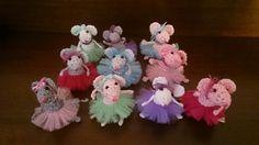 Crochet ballerina mice