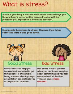 This stress management activity bundle for kids teaches children about stress and coping skills they can use when they need to calm down. This activity can be used by parents, teachers and counselors. Students will enjoy the variety of activities include Auswirkungen Von Stress, Stress And Anxiety, Anxiety Help, Teen Stress, Family Stress, Anxiety Facts, Test Anxiety, Work Stress, Mental Health
