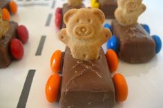 completely unhealthy teddy cars made of cookies and candy