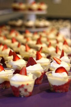 mini strawberry trifles! because you love strawberry trifle and mini makes it really cute.