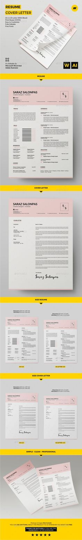 Resume Template PSD, InDesign INDD, AI Illustrator, MS Word - killer resume template