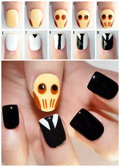 """DIY"" Doctor Who Silence Nail Art #DoctorWho"