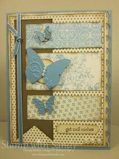Lovely Blue Butterflies Card...love this!