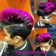Love the color and cut Short Sassy Hair, Cute Hairstyles For Short Hair, Short Hair Cuts, Short Hair Styles, Short Pixie, Pixie Styles, Mohawk Styles, Amazing Hairstyles, Weave Styles