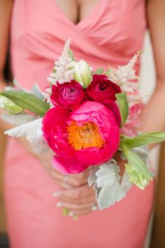 #peony, #ranunculus  Photography: Katelyn James Photography - katelynjames.com  View entire slideshow: Peony Bouquets on http://www.stylemepretty.com/collection/572/