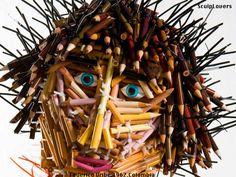 Escultura feita com lápis