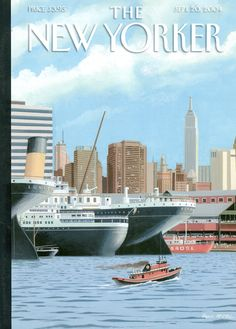"""The New Yorker - Monday, September 2004 - Issue # 4090 - Vol. 80 - N° 27 - Cover """"Ghost Ships"""" by Bruce McCall The New Yorker, New Yorker Covers, Now Magazine, Magazine Art, Magazine Covers, Ghost Ship, Thing 1, Vintage Magazines, Vintage Ads"""
