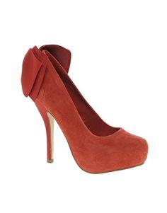 Carvela Jade Suede Heeled Shoe With Bow Back