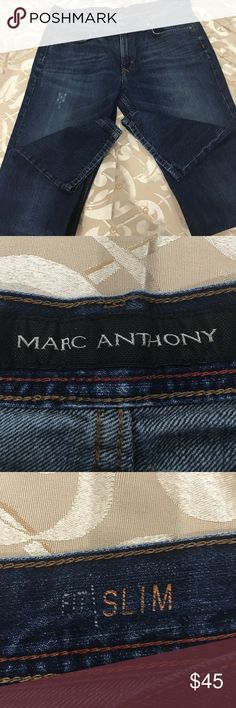 MARC ANTHONY MENS JEANS SIZE 34/34 Marc Anthony men's jeans size 34/34. Gently used, great condition.  Smoke and pet free home. Marc Anthony Jeans Straight
