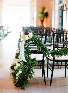 wedding isle   Church Wedding Decorations