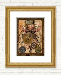 Title: Steam Punk Fig. 2 • Collections: Man Made Things • Type: Wall Art • $126