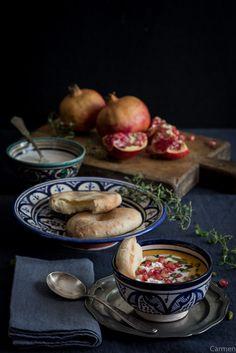 Crema de calabaza con queso de cabra (Receta marroquí) - No quieres caldo? ... Pues toma 2 tazas.