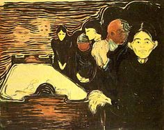 Edvard Munch - At the Death Bed, 1896
