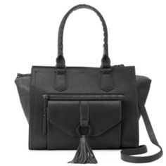 This unique convertible satchel by Apt. 9 grabs your attention with its tassel accent. Fall Bags, Purse Styles, Satchel Purse, Convertible, Handbags, Purses, Shoe Bag, Kohls, Belts