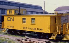Caboose 79034 of the Great Slave Lake Railway [GSLR] at Edmonton AB