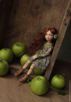 Купить Варенька - коричневый, шарнирная кукла, bgd, шарнирные куклы, авторская кукла