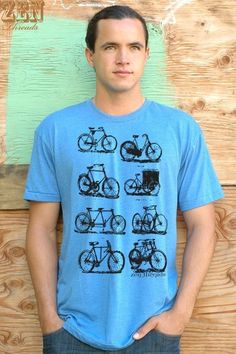 i love t-shirts especially with bicycles on them!