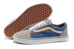 219637a524 Vans Classics Suede Old Skool Blue Grey White Vans Classics