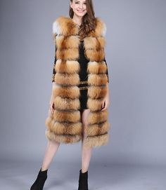 red fox fur vest ,$400 for retail .if wholesale ,please contact me