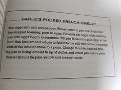 20. Gable's Proper French Omeletp