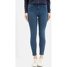 Topshop Moto 'Jamie' High Rise Skinny Jeans (1,145 MXN) ❤ liked on Polyvore