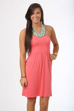 Best Beach Cover Up, coral $32.50 www.themintjulepboutique.com