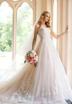 Stella York Strapless Wedding Gown with train