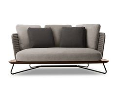 Upholstered 2 seater garden sofa RIVERA | 2 seater sofa - Minotti