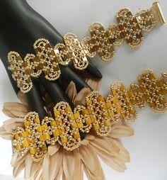 Ovalado Tila Bracelet Beading Pattern Tutorial by DebgerDesigns