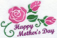 Happy Mother's Day, Embroidered flour sack towel, tea towel, hand towel or dish towel by embroiderybybeverly on Etsy