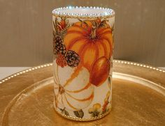 Thanksgiving LED Pillar Candle With Pumpkins, Gourds, Fall Leaves, Apples And More by DontForgetTheFlowers on Etsy Fall Candles, Flameless Candles, Pillar Candles, Wrapping Paper Bows, Pumpkin Decorating, Fall Decorating, Gourds, Pumpkins, Wedding Gifts For Bride
