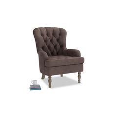 Hound Dog Chair in Dark Chocolate Beaten Leather