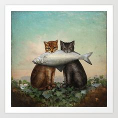 Enjoy Your Dinner Art Print by Christian Schloe - $24.00