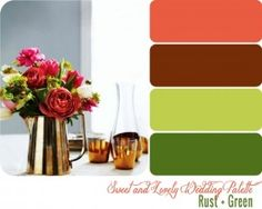 Wedding Color Palette / Rust + Green Wedding Color Palette Rust + Green � Sweet and Lovely Life by yasmine109